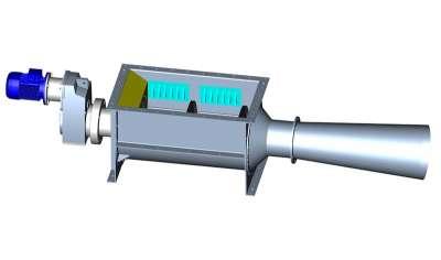 Horizontal screw compactor